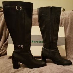 BareTraps black leather boots Size 8.5